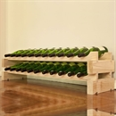 Modularack Wooden Wine Rack 22 Bottle - Natural Pine 2H x 11W