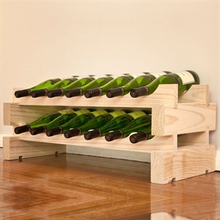 Modularack Wooden Wine Rack 14 Bottle - Natural Pine 2H x 7W
