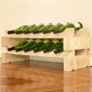 Modularack Wooden Wine Rack 12 Bottle - Natural Pine 2H x 6W