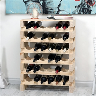 Modularack Wooden Wine Rack - Natural Pine with Top 6H x 6W