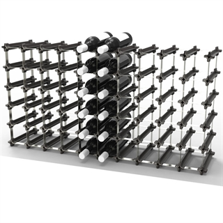 NOOK 50/60 Bottle Self Assembly Wine Rack - Black