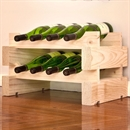 Modularack Wooden Wine Rack 8 Bottle - Natural Pine 2H x 4W
