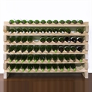 Modularack Wooden Wine Rack 72 Bottle - Natural Pine 6H x 12W