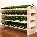 Modularack Wooden Wine Rack 36 Bottle - Natural Pine 4H x 9W