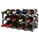 CellarStak 12 / 15 Bottle Plastic Wine Rack - Black