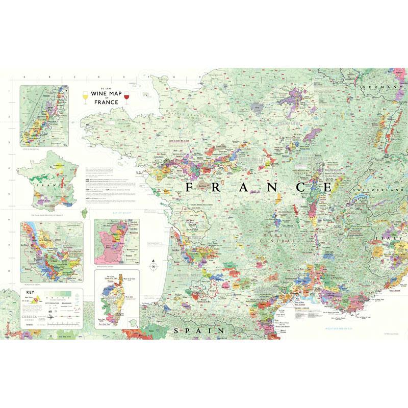 Map Of France Spain.De Long S Wine Map Of France Wine Regions
