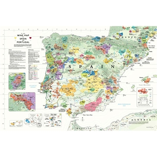 De Long's Wine Map of the Iberian Peninsula (Spain & Portugal)