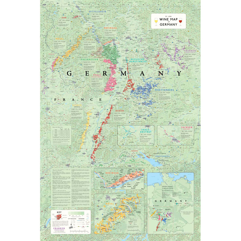Map Of Germany With Regions.De Long S Wine Map Of Germany Wine Regions Wine Education Wine