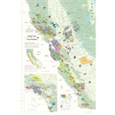 De Long's Wine Map of California - Wine Regions
