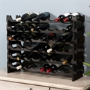 Vinrack Wooden Wine Rack 48 Bottle - Dark Stain 6H x 8W