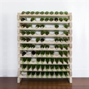 Modularack Wooden Wine Rack 100 Bottle - Natural Pine 10H x 10W