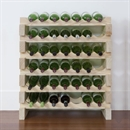 Modularack Wooden Wine Rack 42 Bottle - Natural Pine 6H x 7W