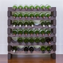 Modularack Wooden Wine Rack 42 Bottle - Dark Stain 6H x 7W