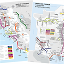 De Long's Metro Wine Region Maps of California & France Duo Set
