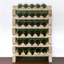 Modularack Wooden Wine Rack 30 Bottle - Natural Pine 6H x 5W