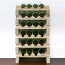 Modularack Wooden Wine Rack 24 Bottle - Natural Pine 6H x 4W