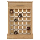 30 Bottle Contemporary Wooden Wine Cabinet / Rack with Plinth