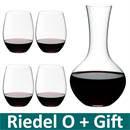 Riedel O Range Stemless Cabernet Glass + Syrah Wine Decanter - 5414/30
