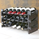 Vinrack Wooden Wine Rack 18 Bottle - Dark Stain 3H x 6W