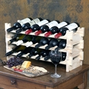 Vinrack Wooden Wine Rack 18 Bottle - Natural Pine 3H x 6W