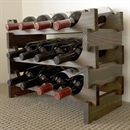 Vinrack Wooden Wine Rack 12 Bottle - Dark Stain 3H x 4W
