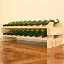 Modularack Wooden Wine Rack 18 Bottle - Natural Pine 2H x 9W