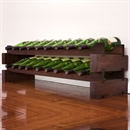 Modularack Wooden Wine Rack 18 Bottle - Dark Stain 2H x 9W