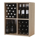 Malbec Self Assembly Series - 60 Bottle Melamine Wine Rack Kit - Rustic Oak Effect