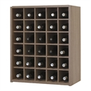 Malbec Self Assembly Series - 30 Bottle Melamine Wine Rack Kit - Rustic Oak Effect