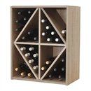 Malbec Self Assembly Series - 44 Bottle Melamine Wine Rack Kit - Rustic Oak Effect