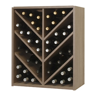 Malbec Self Assembly Series - 42 Bottle Melamine Wine Rack Kit - Rustic Oak Effect