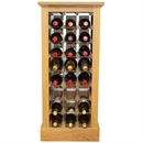 24 Bottle Contemporary Wooden Wine Cabinet / Rack with Plinth