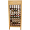 50 Bottle Contemporary Wooden Wine Cabinet / Rack with Legs