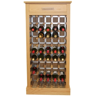 50 Bottle Contemporary Wooden Wine Cabinet / Rack with Plinth