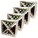 Pine Wooden Wine Rack - Cellar Cube - 96 Bottles - 298mm Deep - Set of 4