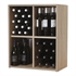 Malbec Self Assembly Series - 240 Bottle Melamine Wine Rack Kit - Rustic Oak Effect