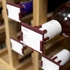 Plastic Clip-On Wine Bottle Tags Burgundy - Set of 10