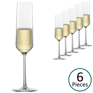 Schott Zwiesel Pure Champagne Glasses / Flute - Set of 6