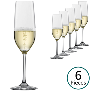 Schott Zwiesel Vina Champagne Glasses / Flute - Set of 6