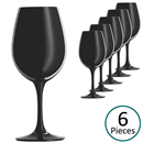 Schott Zwiesel Sensus Black Wine Tasting Glasses - Set of 6 (Blind Wine Tastings)