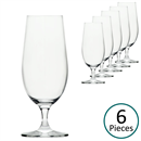 Glass & Co In Vino Veritas Stemmed Beer Glasses - Set of 6