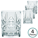 Nachtmann Highland Cut Glass Whisky Tumbler - Set of 4