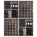 Malbec Self Assembly Series - 180 Bottle Melamine Wine Rack Kit - Rustic Oak Effect