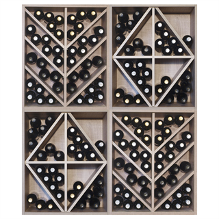 Malbec Self Assembly Series - 172 Bottle Melamine Wine Rack Kit - Rustic Oak Effect