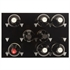 Vinowall 12 Bottle Wall Mounted Wine Rack - Black Panel Silver Frame