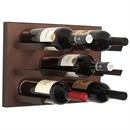 Vinowall 12 Bottle Wall Mounted Wine Rack - Brushed Copper Panel Black Frame