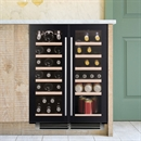 Caple Wine Cabinet Sense - 2 Temperature Slot-In - Black Wi6235
