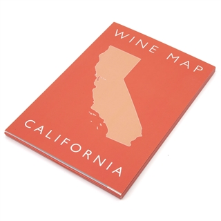 De Long's Wine Map of California - Bookshelf Edition