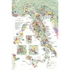 De Long's Wine Map of Italy - Bookshelf Edition