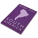 De Long's Wine Map of South America - Bookshelf Edition